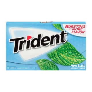 TRIDENT MINT BLISS 14 PLÁTKŮ 27G