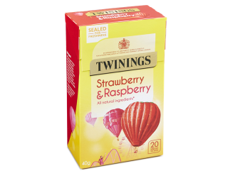 TWININGS STRAWBERRY & RASPBERRY 20KS 40G