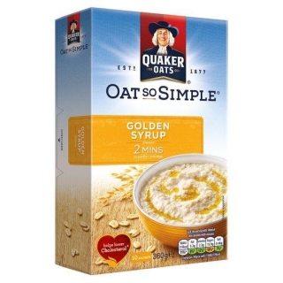 QUAKER OATS SO SIMPLE GOLDEN SYRUP 10X36G 360G