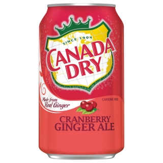 CANADA DRY GINGER ALE CRANBERRY 355ML