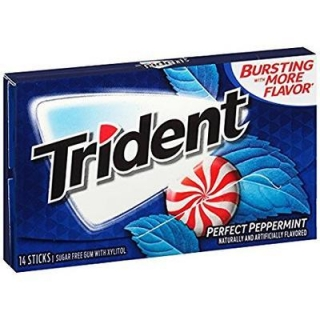 TRIDENT PERFECT PEPPERMINT 14 PLÁTKŮ 27G