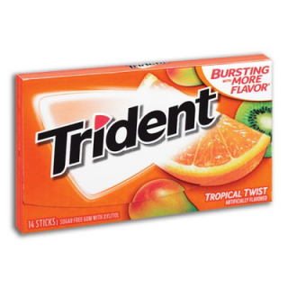TRIDENT TROPICAL TWIST 14 PLÁTKŮ 27G